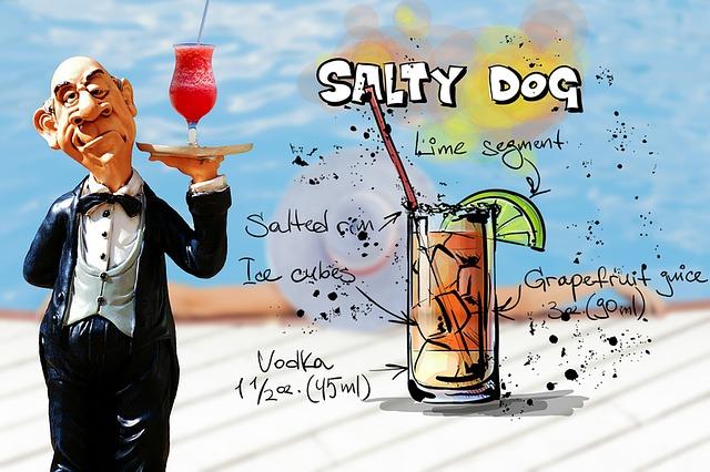 Salty Dog, Cocktail, Drink, Operation, Upper, Waiter