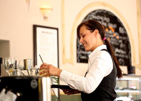 Waitress, The Waiter, Restaurant, Café, Coffee