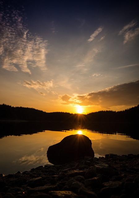 Reservoir, Morgenstimmung, Waldviertel