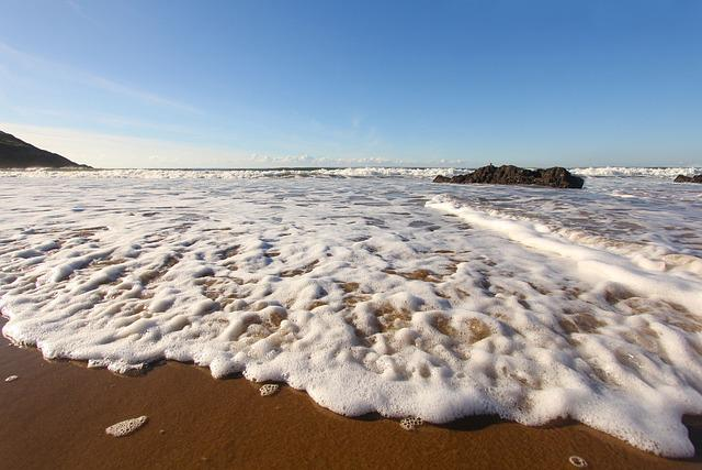Ocean, Beach, Coast, Wales