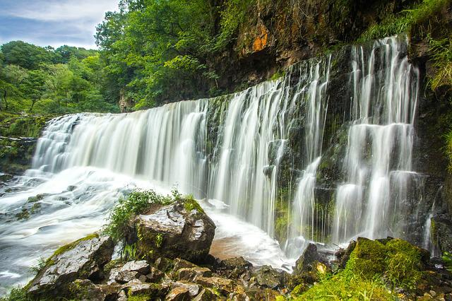 Waterfall, Wales, River, England