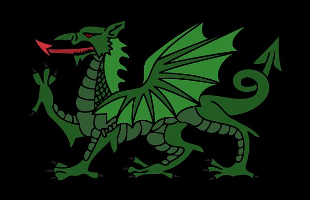 Animal, Dragon, Myth, Mythical, Stylised, Wales, Welsh
