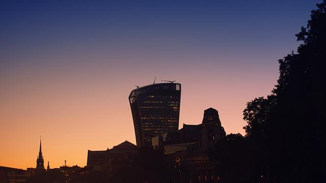 London, Walkie-talkie, Sunset, Building, Architecture