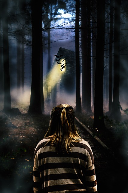 Free photo Walking Ghost Alone Trees Haunted House Girl ...