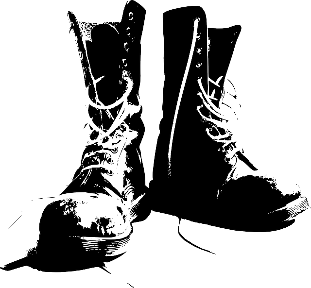 Boots, Clothing, Shoes, Walking, Military Boots, Worn