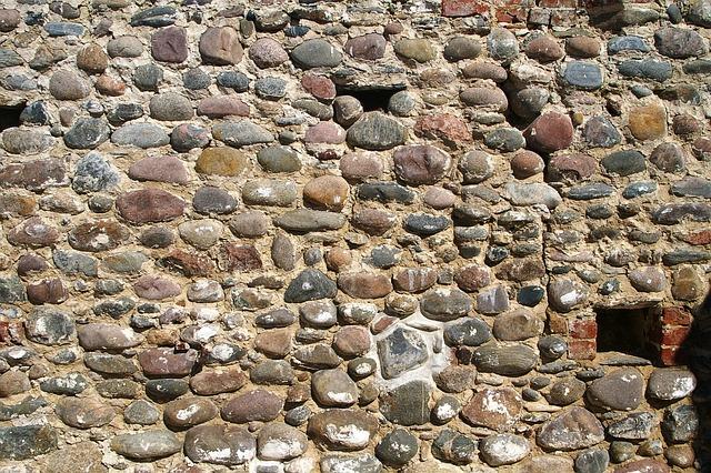 Wall, Cobbles, Ancient
