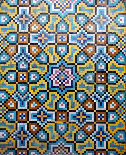Kashi, Iran, Islamic, Art, Islamicart, Mosaic, Wall Art