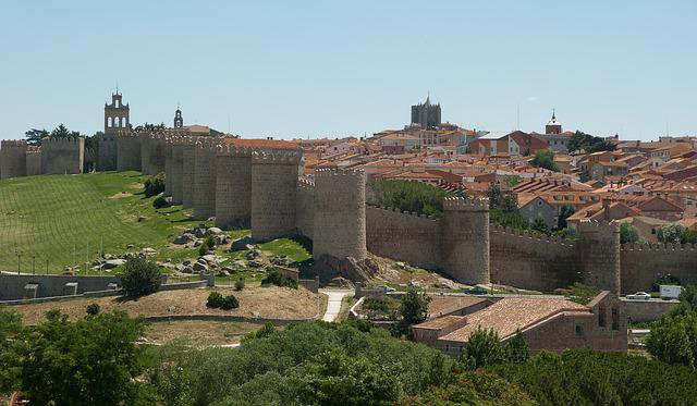 Spain, Avila, Ramparts, Wall, Medieval Town