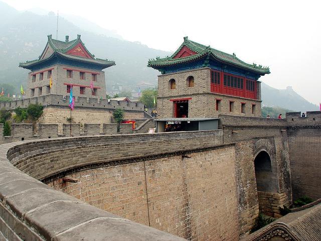 China, Wall, Bastion, Fortin, Fortification