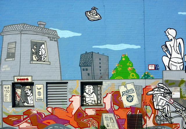 Wall, Graffiti, Street Art, Berlin