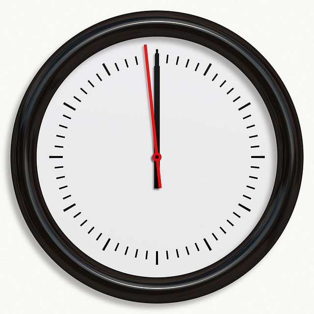 Clock, Black, Wall, Isolated, Sign, Circle, Time, Watch
