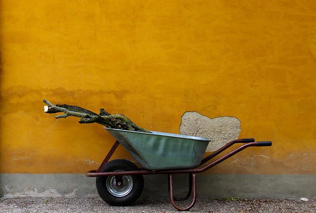 Gardening, Wood, Wall, Wheelbarrow, Faceplate