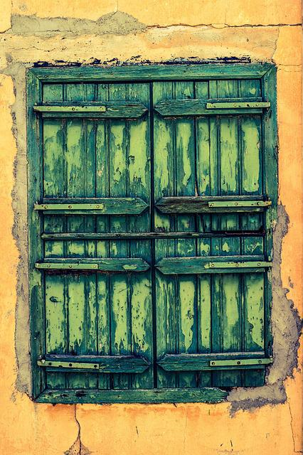 Window, Wooden, Green, Wall, Home, Architecture