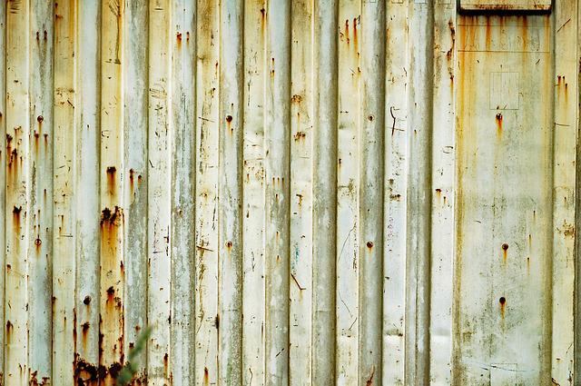 Container, Wall, Metal, Waves, Texture, Rust