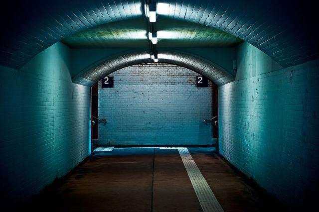 Architecture, Tunnel, Perspective, Wall, Centered, City