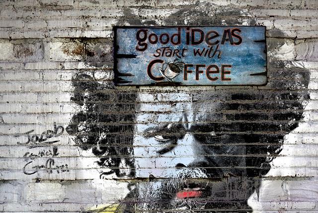 Facial, Wall, Alley, Graffiti, Stencil, Art, Street Art