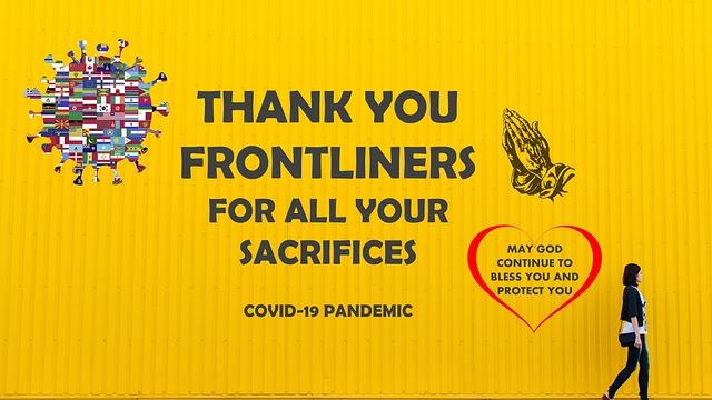 Wall, Yellow, Thank You, Pandemic