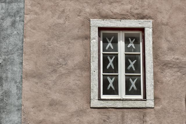 Window, Wall, Home, Building, Crosses, Three Online