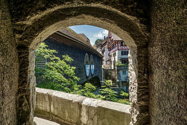 Passage, Tunnel, Perspective, View, Wall, Wooden Bridge