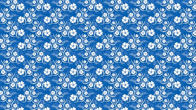 Wallpaper, Background, Blue, Colors, Flower
