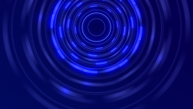 Blue, Tunnel, Circle, Abstract, Background, Wallpaper