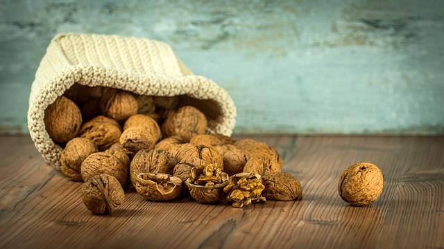 Walnuts, Dump, Spill, Table, Still Life, Studio, Nuts