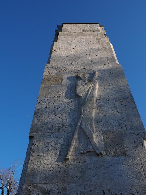 Figure, Man, Monument, Pillar, War Memorial, Tower