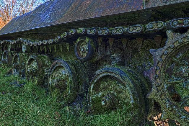 Panzer, Curb Chain, Wreck, Military, War
