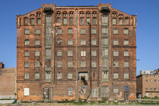 Architecture, Old, Building, Brick, Sky, Warehouse