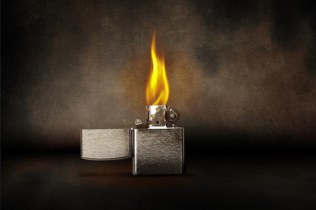 Lighter, Flame, Burn, Kindle, Light, Warm, Zippo, Heat