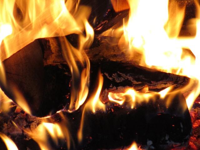 Fire, Burning, Wood, Warm, Winter, Fireplace