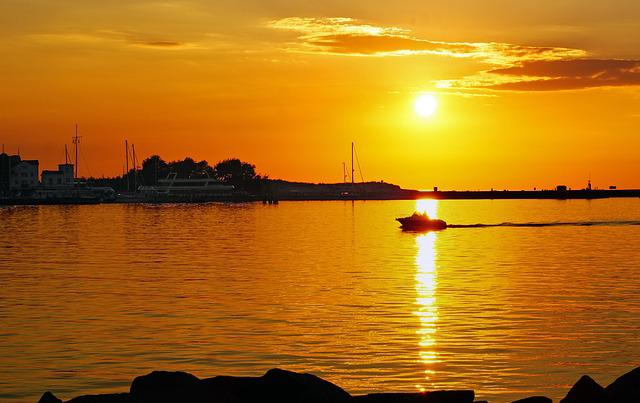 Sunset, Baltic Sea, Warnemünde
