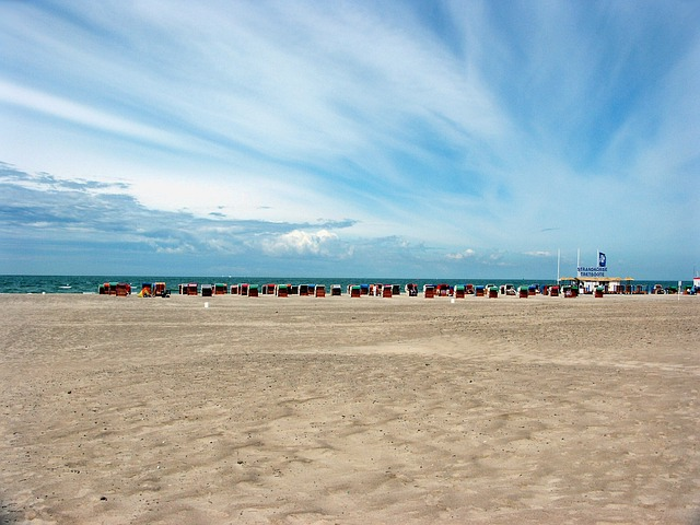 Warnemünde, Beach, Baltic Sea, Clouds, Sand Beach