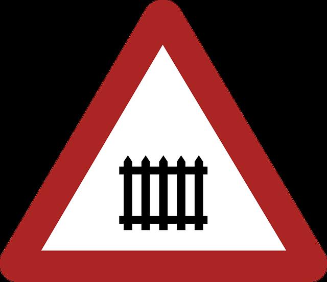Warning, Danger, Railway Crossing, Road Sign, Germany