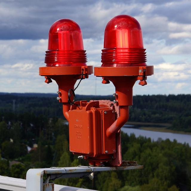 Warning Lights, Red, Light, Attention Light