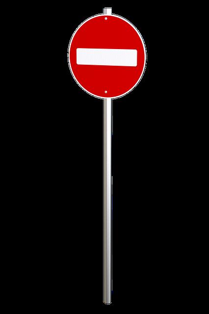 No Entry Sign, Traffic Sign, Warning, Sign, Traffic