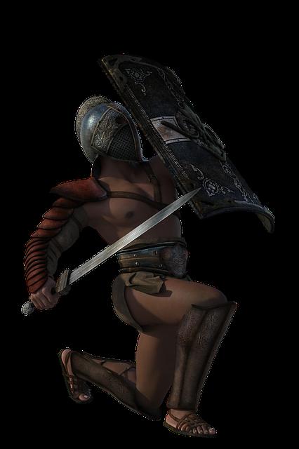 Thracian, Gladiator, Sword, 3d, Warrior, Ancient, Man