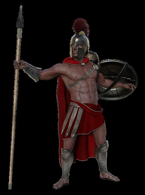 Soldier, Sparta, Antique, Man, Fighter, Warrior, Spear