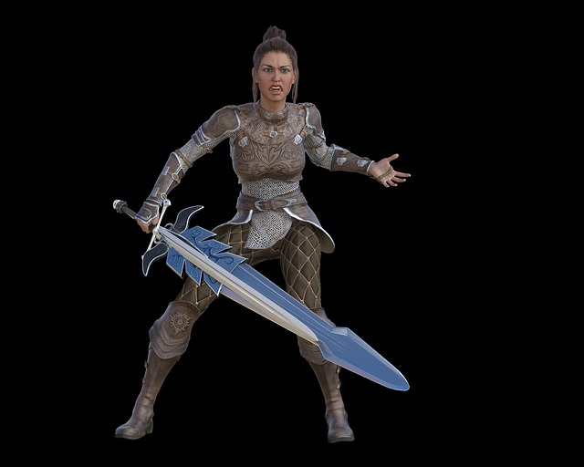 Woman, Warrior, Beauty, Elegant, Determined, Amazone