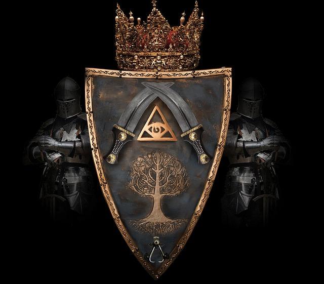 Knight, Decoration, King, Queen, Warrior, Crown, Emblem