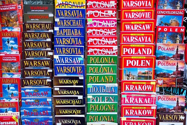 Poland, Warsaw, Books, Tourism