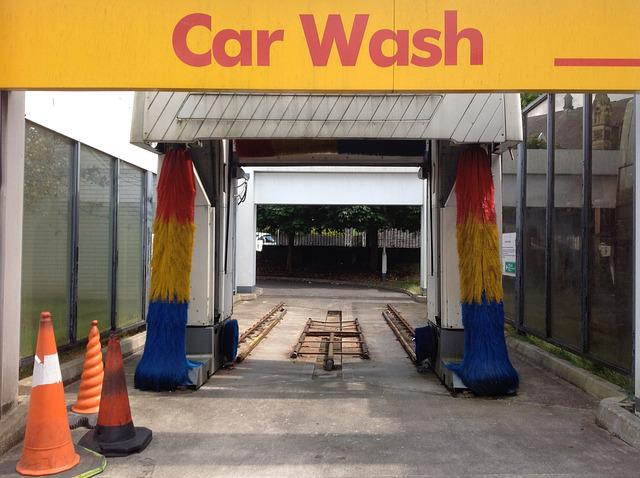 Car Wash, Brushes, Clean, Wash, Garage