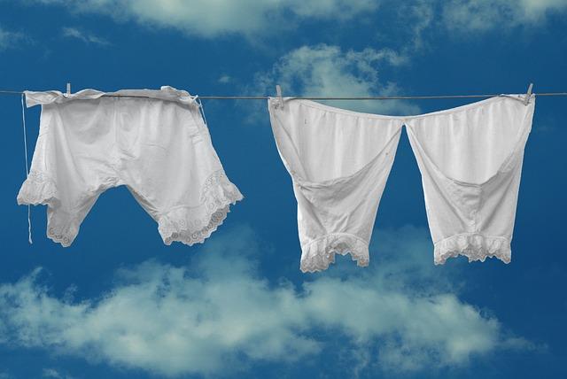 Trousers, Underwear, Nostalgia, Past, White, Wash