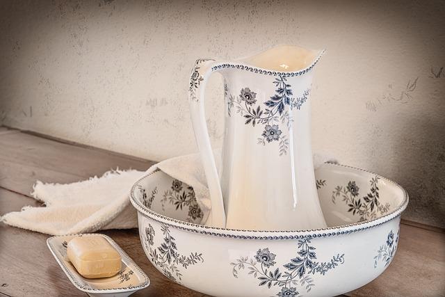 Washbasin, Broc, Toilet Service, Ceramic, Vintage