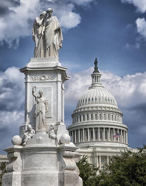 Washington D C, Statue, Sculpture, The Peace Monument