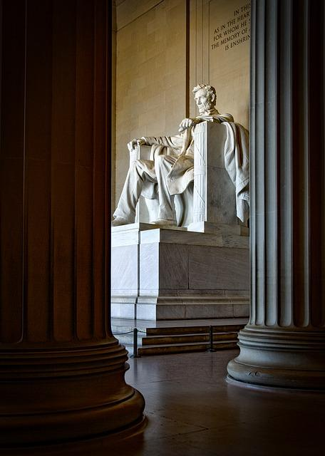 Lincoln Memorial, Washington Dc, C, Landmark, Historic