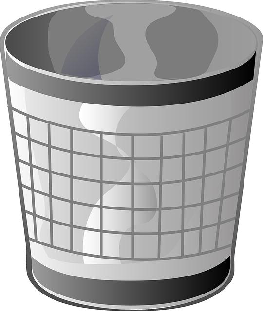 Trash Can, Garbage Can, Waste Basket, Empty, Bin