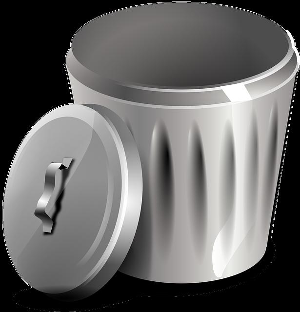 Garbage, Basket, Bin, Trash, Rubbish, Waste, Metal, Can