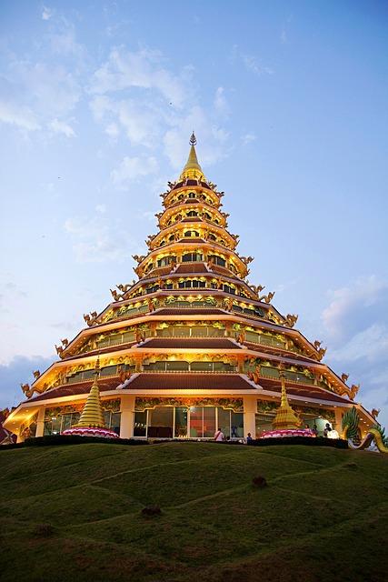 Thailand, Chiang Rai, Temple, Wat Huai Pla Kung