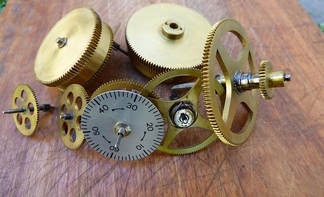 Gears, Bronze, Mechanical, Watch